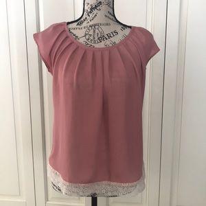 LC Lauren Conrad flutter sleeve Blouse size XS